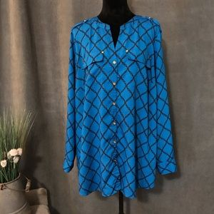 Charter Club Woman Royal Blue Top, Size 2X